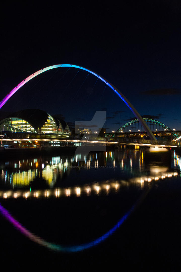 Newcastle by night 8 by paradoxofminds