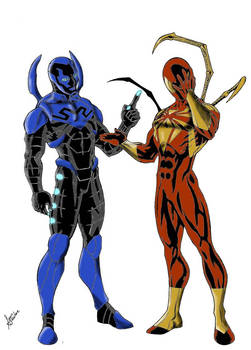 Blue Beetle and Spiderman