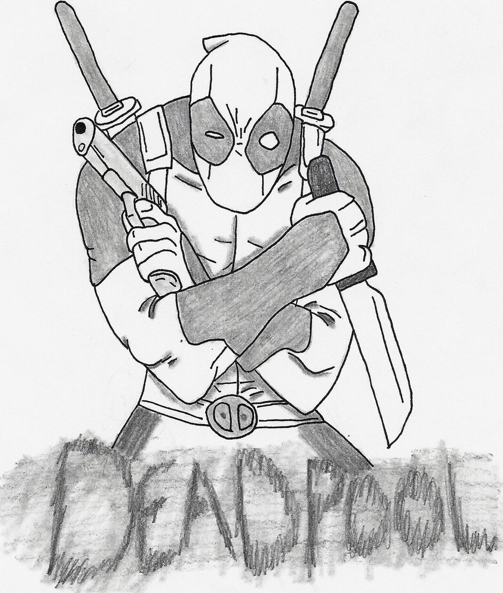 Deadpool Tattoo Outline: Deadpool By SniperNoSniping1 On DeviantArt