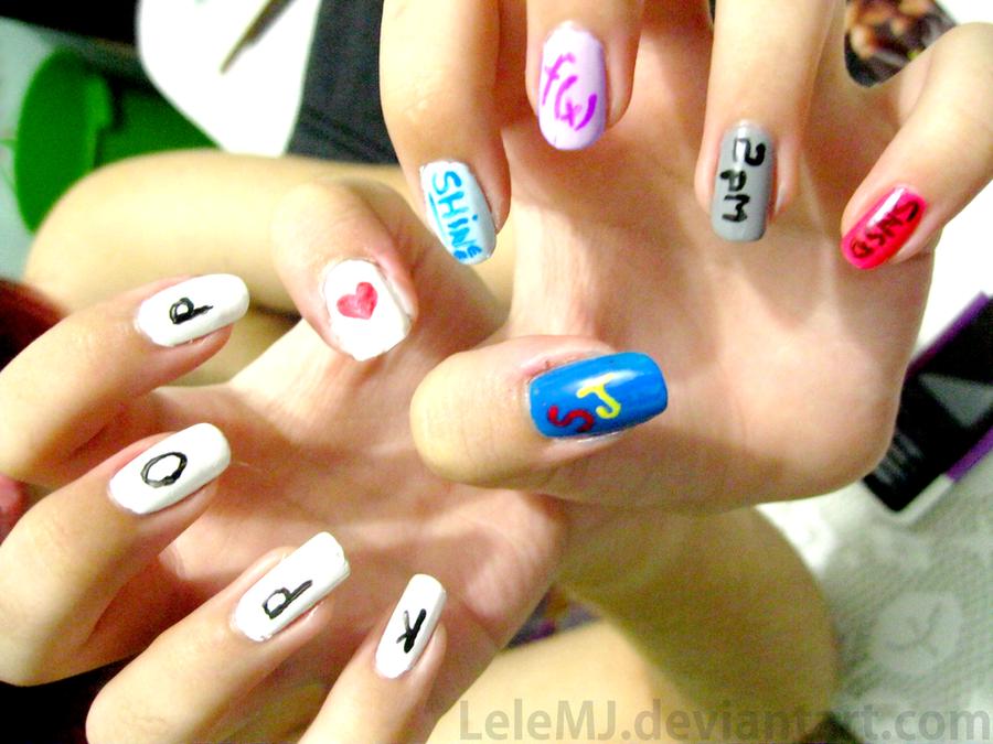 Nail Art: Kpop by LeleMJ on DeviantArt