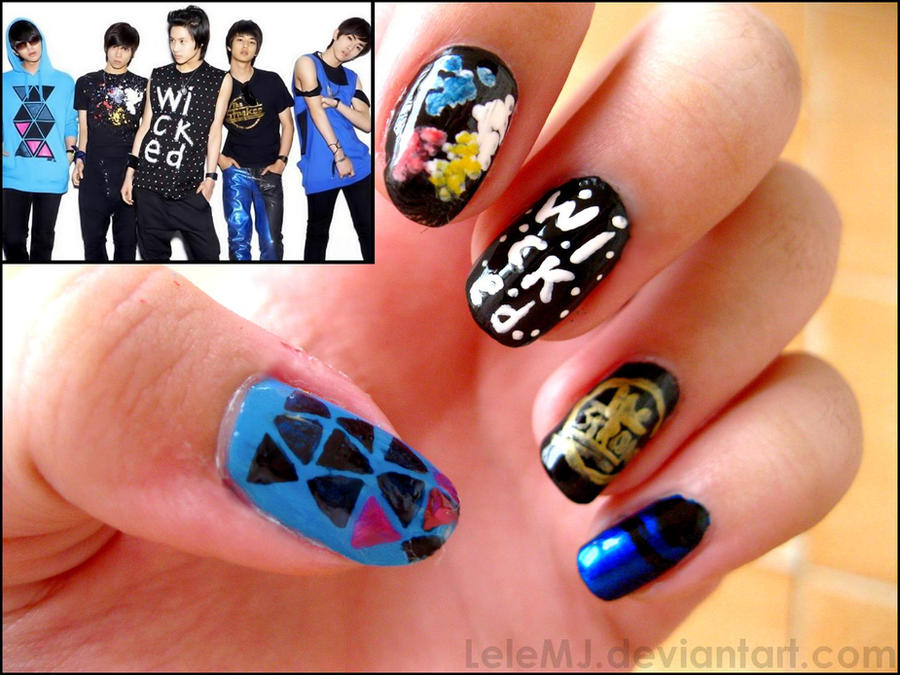 Nail Art: SHINee by LeleMJ on DeviantArt