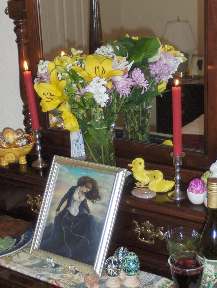 Ostara 2012 Altar by wanderingmage