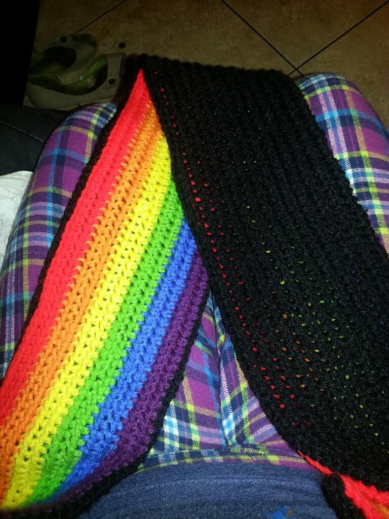 double sided crochet scarf by kofenvamp13 on DeviantArt