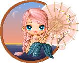 Mermaid with Parasol
