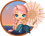 Mermaid with Parasol by pixelpink