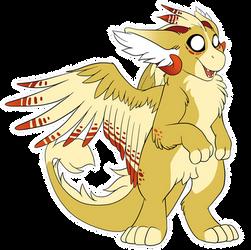 Cedar the Dutch Angel Dragon by LostInTheTrees