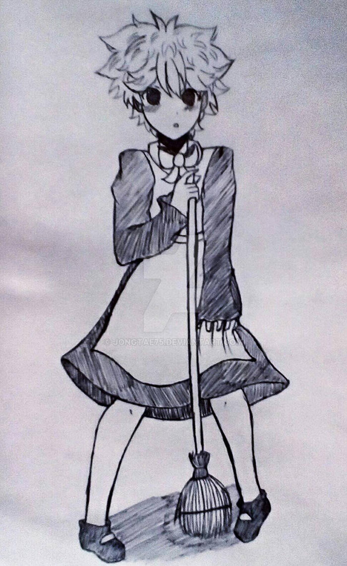Maid shouyou hinata  by Jongtae75