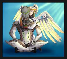 Genji x Mercy [Overwatchfanart] by Arinatira