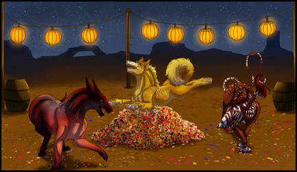 Halloween Event: Furnace and Helpers by Arinatira