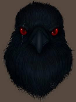 Commission: Raven Headshot 1/2