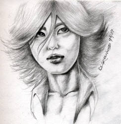 Akanishi Jin sketch by DarkMedellia686