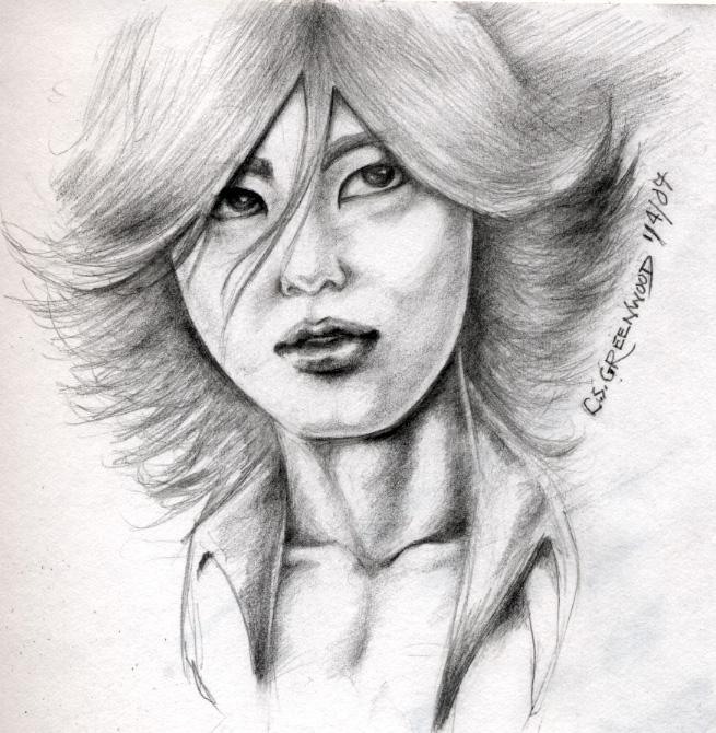 Akanishi Jin sketch by DarkMedellia686