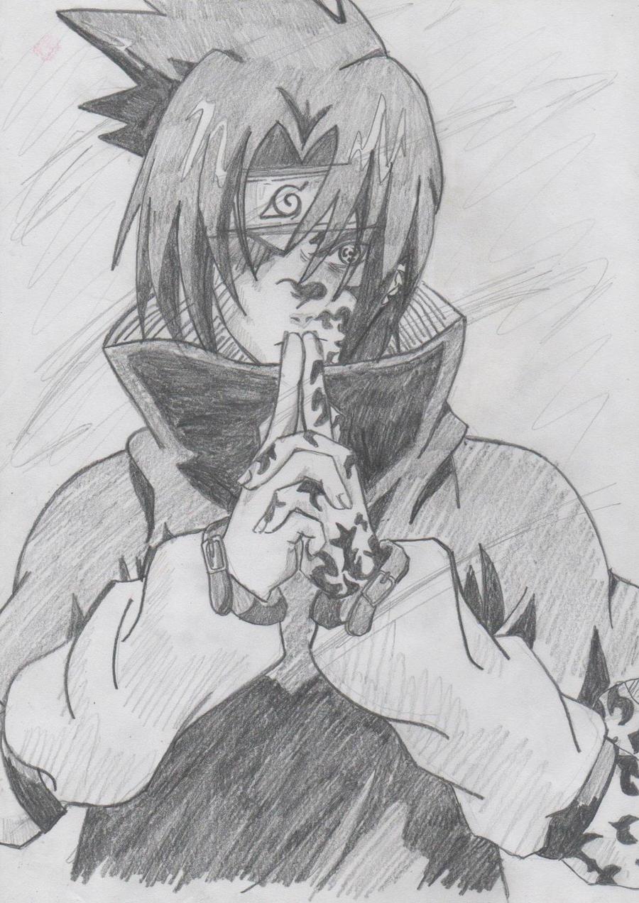 Madara Drawing In Pencil Sasuke my art. by Ichi...