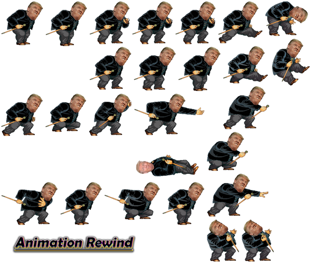 Donald Trump Sprite Sheet By Animationrewind Deviantart – Fondos de