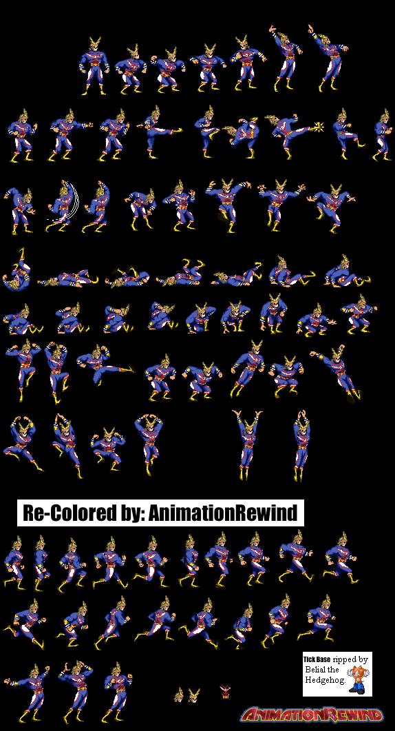 All Might Sprite Sheet by AnimationRewind on DeviantArt