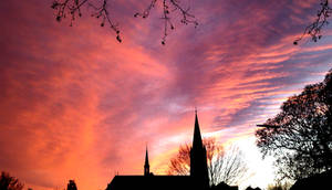Sometimes You Wanna See The Sky Burn - Sunset Bonn by TheDrawnDen93