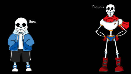 Papyrus And Sans Wallpaper by SoulFire-Dragon