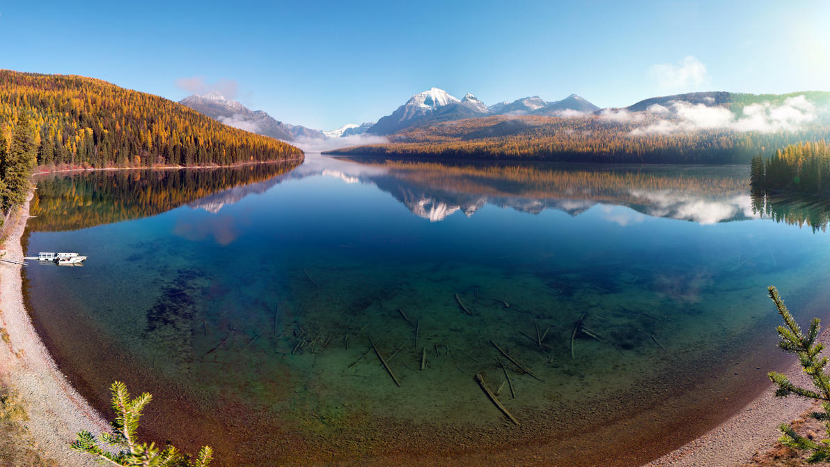 Bowman Lake wallpaper by NickSpiker