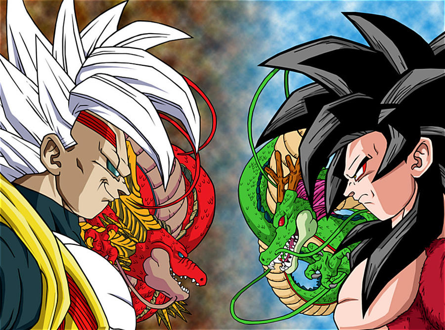 Goku Super Saiyan 4 Vs Baby Vegeta By Talbeast