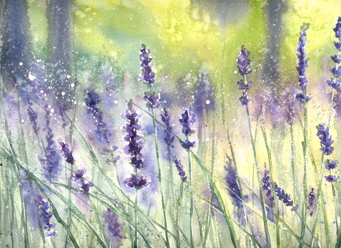 lavender painting - photo #5