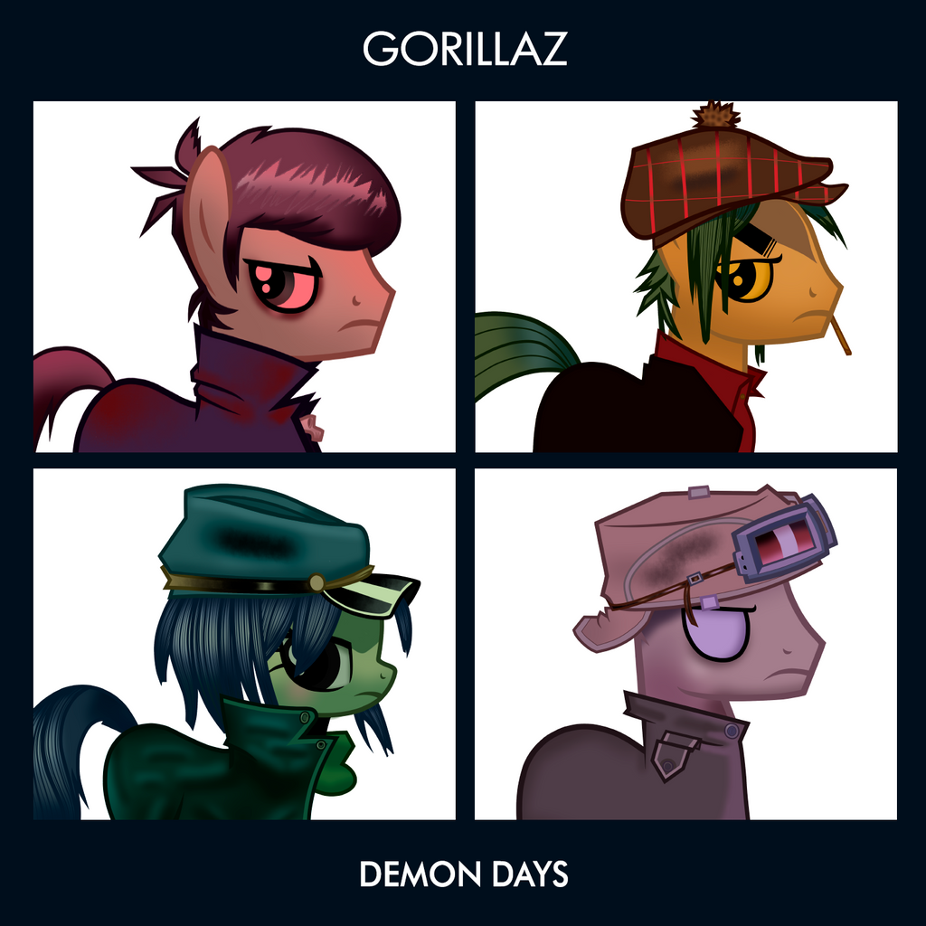 Gorillaz Demon Days Wallpaper Demon Days By Crossedlinked On