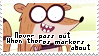 Rigby Stamp by MS-Pixels