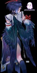 Kujou Sara Genshin Impact render
