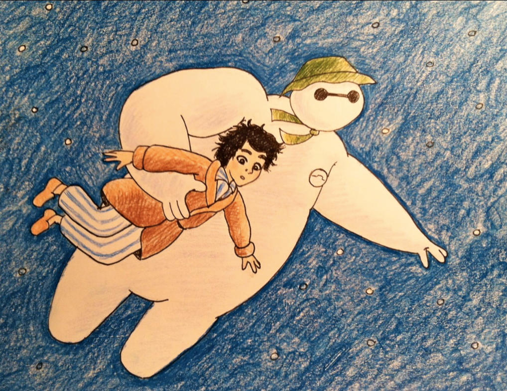 Baymax walking through the air by KimmitheHealer