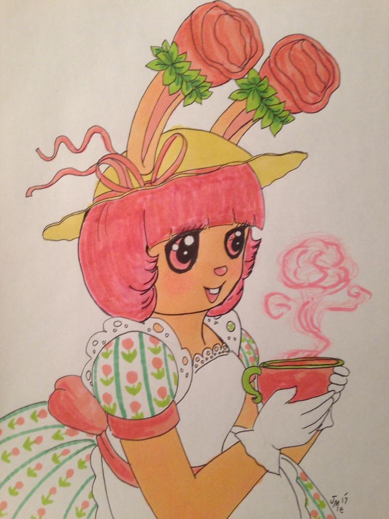 Tea Bunny Rose by KimmitheHealer