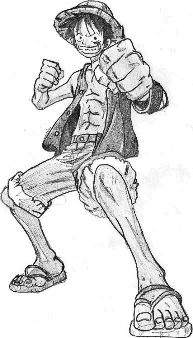 One Piece Monkey D. Luffy by WormApocalypse
