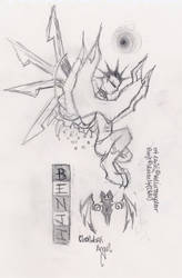 A demonic clockwork angel
