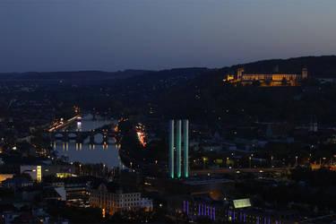 Nightfall in Wuerzburg by Khaosprinz