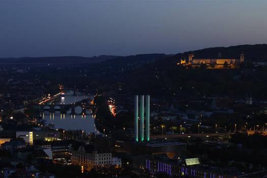 Nightfall in Wuerzburg