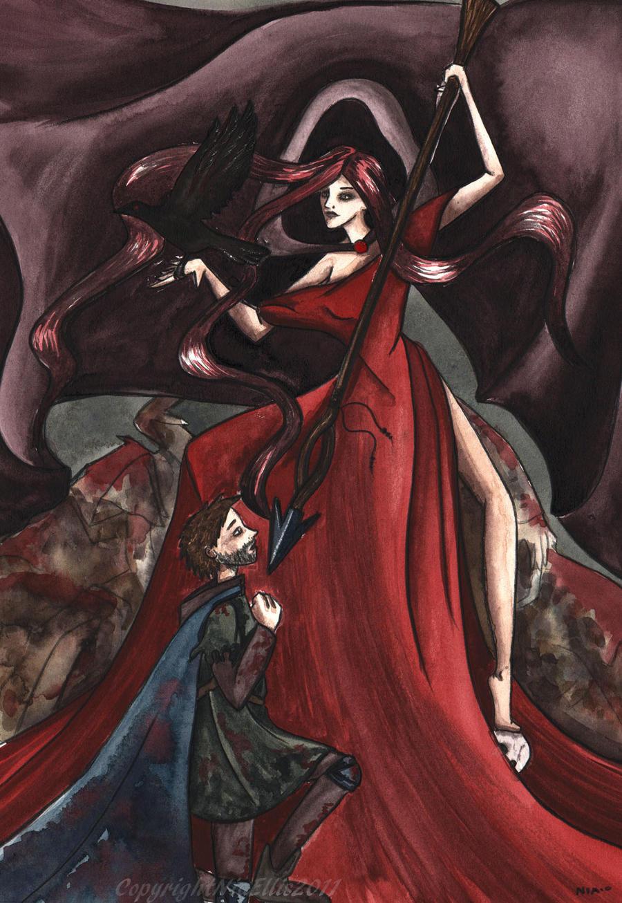 Goddess of War and Death by ZurinaRose