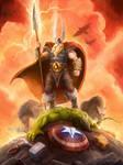 Amon Amarth - 2014 SDCC ComicCon shirt - Odin wins