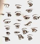 Ojos estilo manga