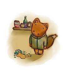 Who broke the  jam's jar of Mr. Fox? by scretos