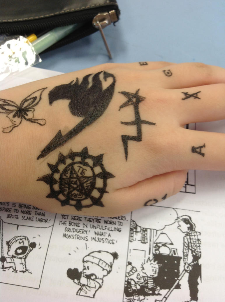 Draw your fandom on your hand day by nightshadowvii on for How to draw something cool on your hand