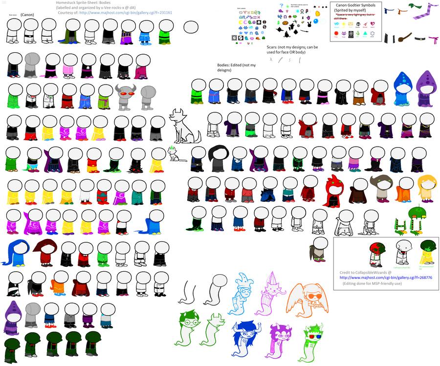 Homestuck Body Spritesheet (Updated) by x-Vee-rocks-x