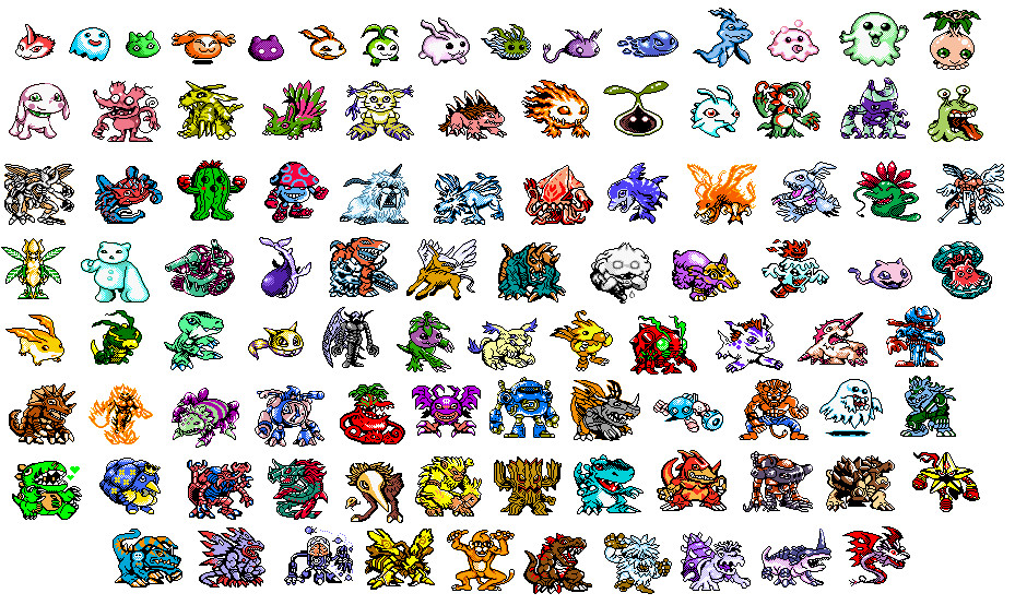 Digimon Sprites by KoonieDude