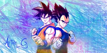 Goku And Vegeta :D by Hobbart