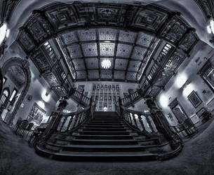 Beaumanor Hall main staircase by amberstudios