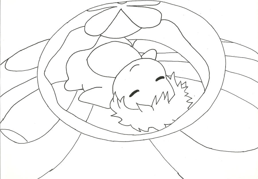 Ponyo line art by cassidy slingby on deviantart for Ponyo coloring pages