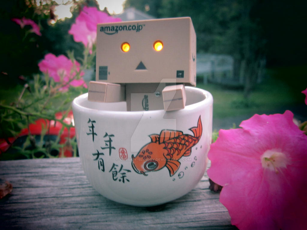 Danboard in a koi tea cup by Cassidy-Slingby