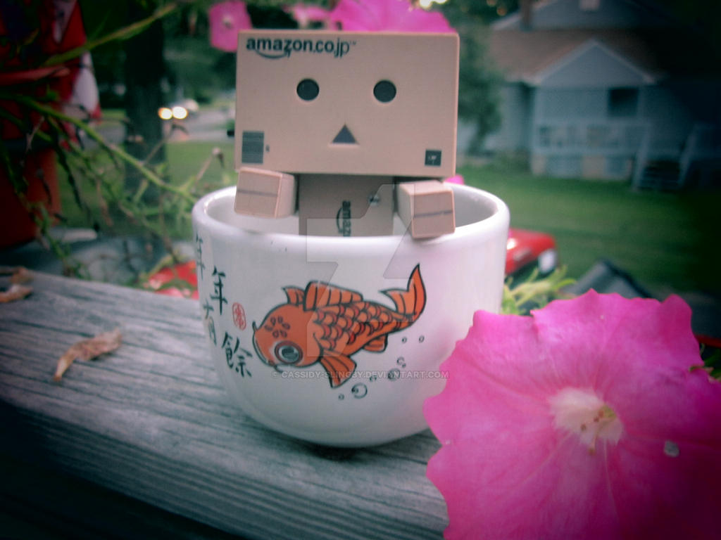 Danboard in a koi tea cup (eyes not lit) by Cassidy-Slingby