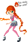 Winx Club:CRFA'Bloom school uniform'!! by GoldenAmethyst