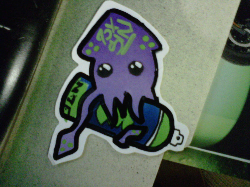 full spray chibi squid by ninjaslap