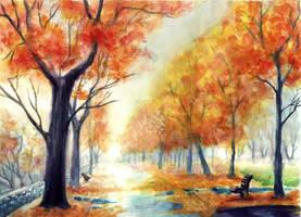 Autumn Stroll by Kiwi-Peels