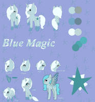 Blue Magic Refrence Sheet by PonyHearted