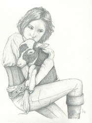 Shanny and her little Lamb